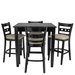Weisser 5 Piece Pub Table Set by Red Barrel Studio