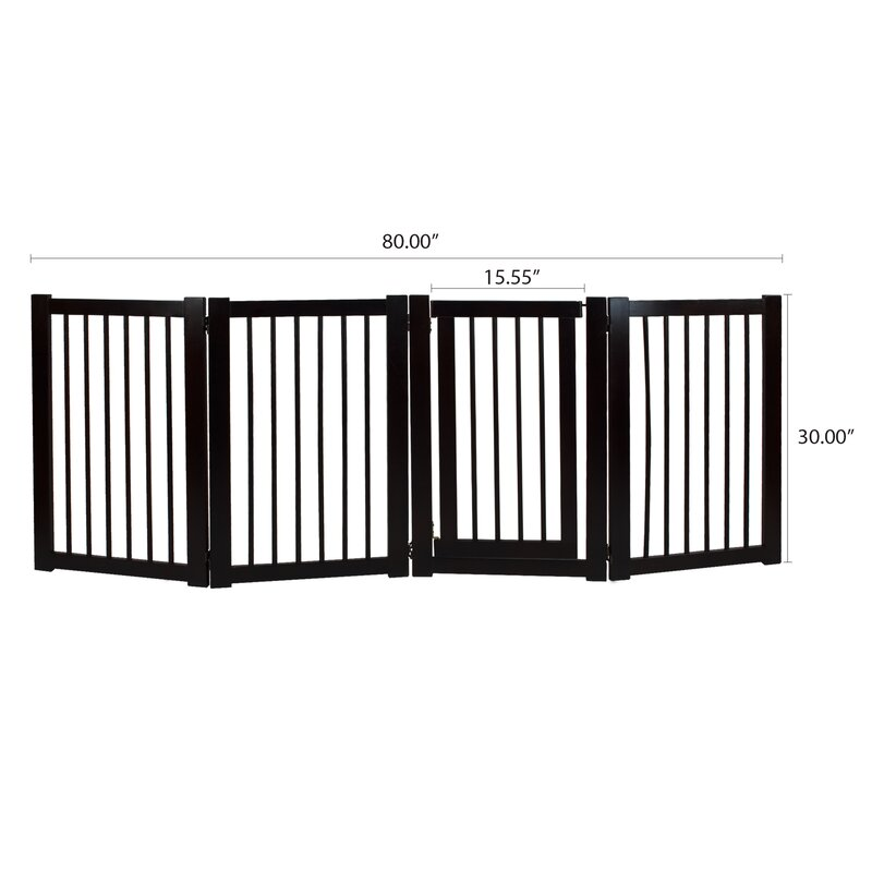 Good Aristotle Freestanding Pet Gate With Door