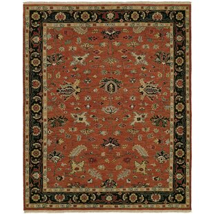 Affordable Price Herscher Flat Woven Wool Rust/Black Area Rug By Fleur De Lis Living
