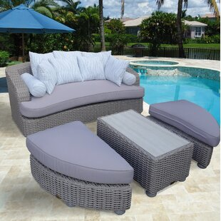Gaia Tuscan Patio Daybed with Cushions by Bayou Breeze