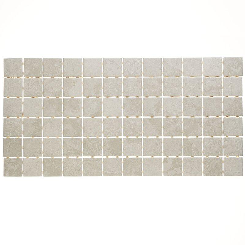 Daltile Slate Attach 12 X 24 Porcelain Mosaic Tile In Meta Light