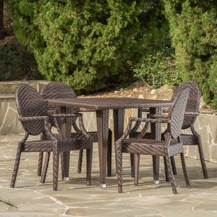 Jazzerus Outdoor 5 Piece Dining Set by Bl..