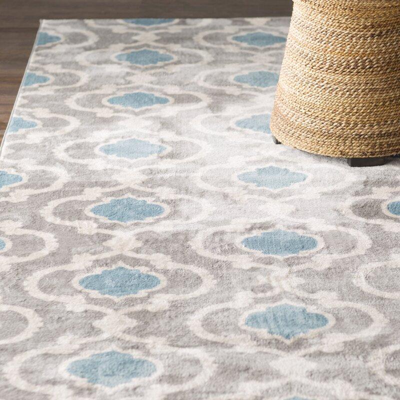 melrose gray blue area rug reviews birch lane. Black Bedroom Furniture Sets. Home Design Ideas