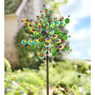 Metal Garden Wind Spinners   Wayfair