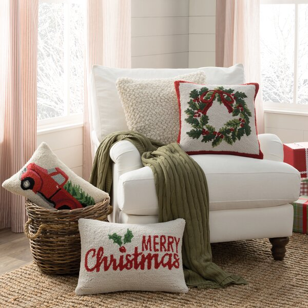 Pleasant Farmhouse Rustic Holiday Pillows Throws Birch Lane Andrewgaddart Wooden Chair Designs For Living Room Andrewgaddartcom