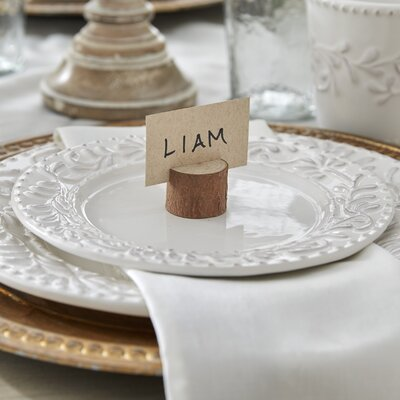 Rustic Real Wood Place Card Photo Holder Set Of 12