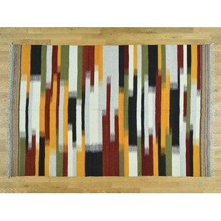 Best Reviews One-of-a-Kind Bessey Dazzling Handmade Kilim Wool Area Rug By Isabelline