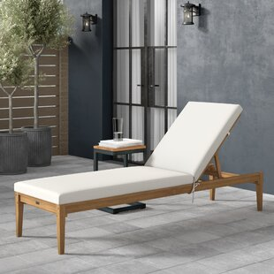 Centerview Reclining Chaise Lounge with Cushion by Greyleigh