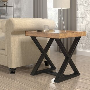 Sikeston Industrial End Table by Gracie Oaks