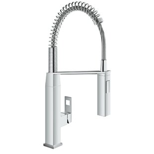 Grohe Eurocube Pull Out Single Handle Kitchen Faucet with SilkMove®