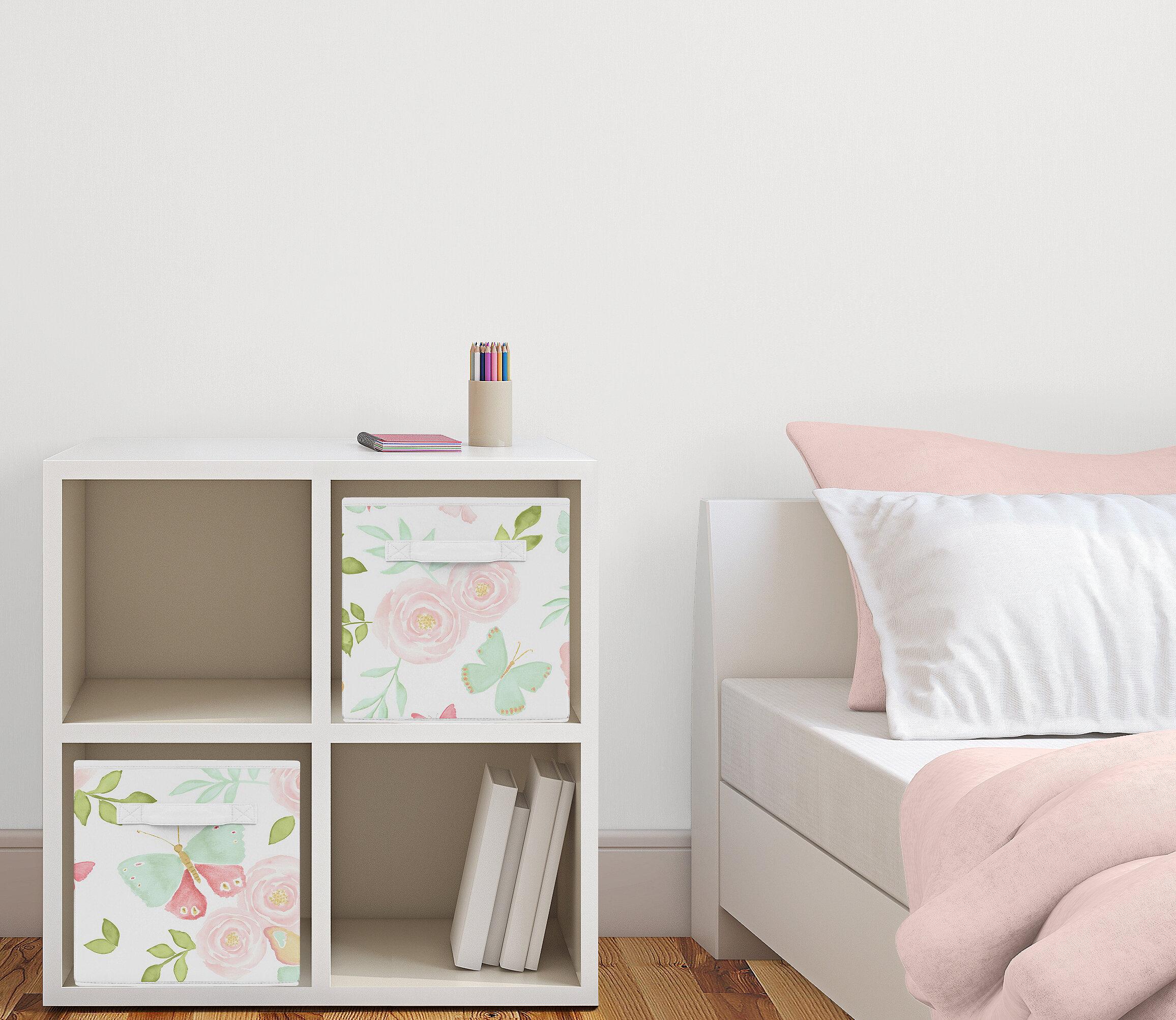 Erfly Fl Fabric Storage Cube Or Bin
