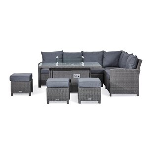 Replogle 9 Seater Rattan Effect Corner Sofa Set Image