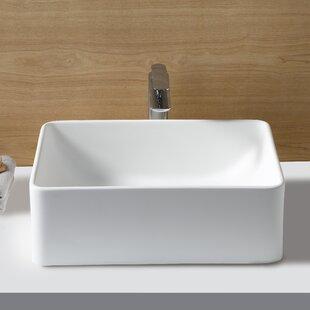 Kingston Brass Fauceture Rectangular Vessel Bathroom Sink