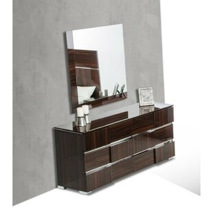 6 Drawer Double Dresser With Mirror by HomeRoots Coupon