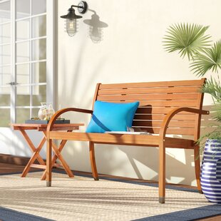 Frye Eucalyptus Garden Bench by Beachcrest Home Best #1