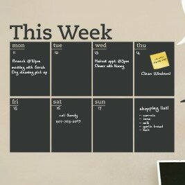 Weekly Chalkboard Calendar Wayfair
