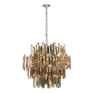 Everly Quinn Shiela Glittering 15-Light Chandelier