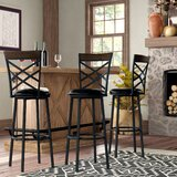 Taryn Adjustable Height Swivel Bar Stool (Set of 3)