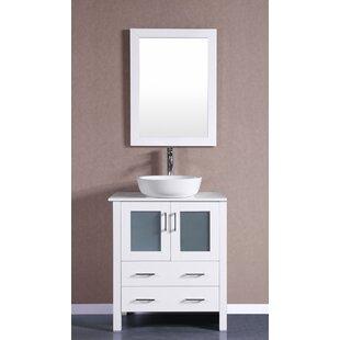 Hodgeman 30 Single Bathroom Vanity Set with Mirror by Bosconi
