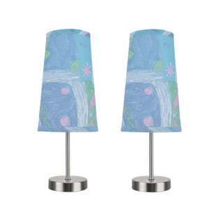 Harriet Bee Baby Contemporary Candlestick Table Lamp (Set of 2)