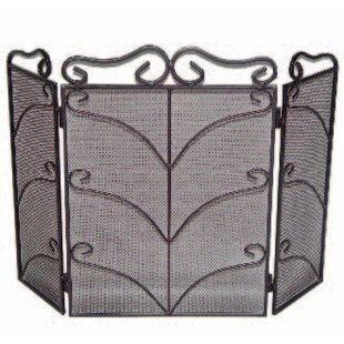 Deluxe Scroll 3 Panel Fireplace Screen By Symple Stuff