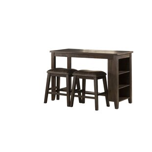 Balnamore Spencer 3 Piece Counter Height Dining Set by Charlton Home