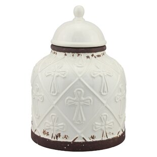 Ceramic Cross Cookie Jar