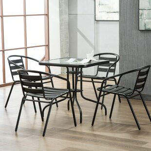 Pineville 5 Piece Bistro Set by Zipcode D..
