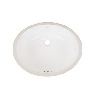 Great Price Halo Ceramic Oval Undermount Bathroom Sink with Overflow By Ronbow