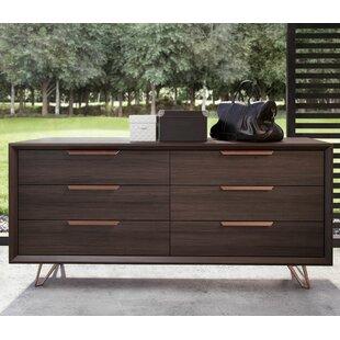 Orren Ellis Nahlia 6 Drawer Double Dresser