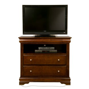 Langevin Rubberwood TV 2 Drawer Media Chest