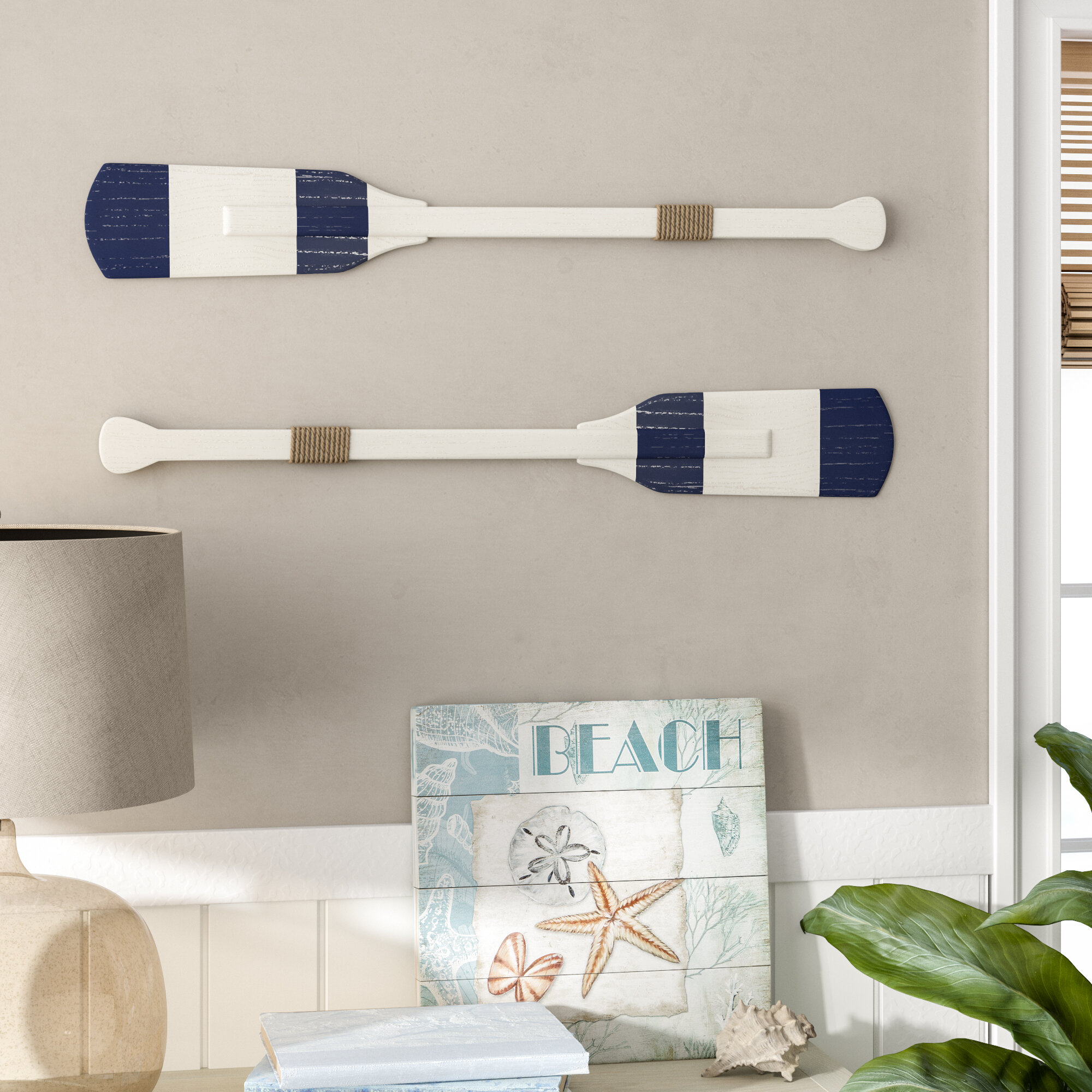 Rustic Rowing Oar Wall Decor