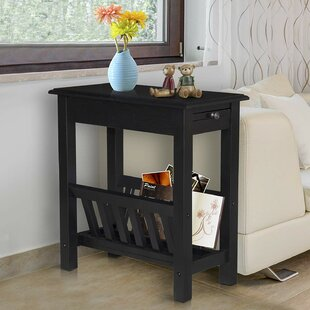 Compare prices Takengon End Table with Storage By Winston Porter