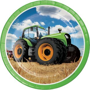 Tractor Time Paper Plate (Set of 24)