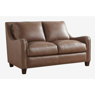 Davon Leather Loveseat