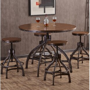 Wellman 5 Piece Adjustable Pub Table Set Williston Forge