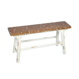 Lakefront Wooden Bench By Beachcrest Home