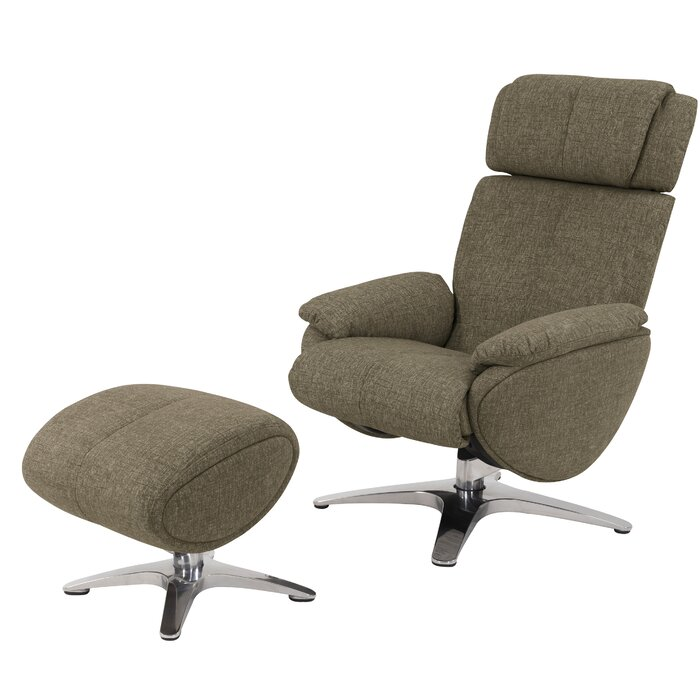 Wondrous Knollview Manual Swivel Recliner With Ottoman Ncnpc Chair Design For Home Ncnpcorg