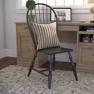 Lockwood Solid Wood Dining Chair (Set of 2) Loon Peak