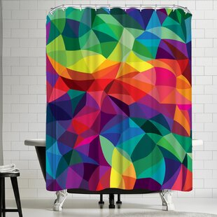Joe Van Wetering Color Shards Single Shower Curtain