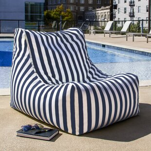 Ponce Outdoor Striped Patio Lounge Chair by Jaxx