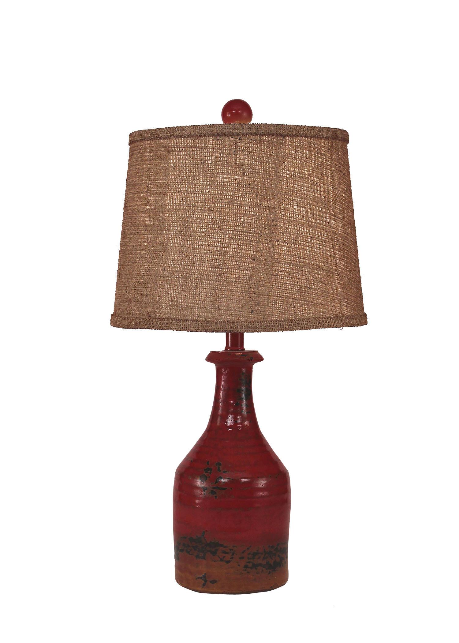 August Grove Halbert Small Clay Jug 23 Table Lamp Wayfair