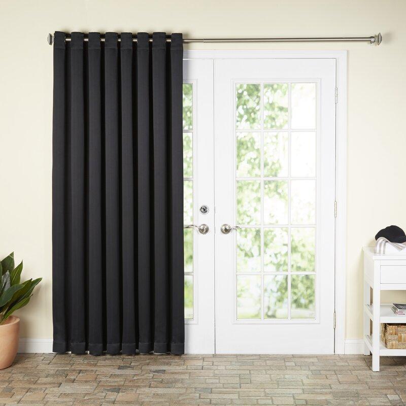 Wayfair Basics Solid Blackout Grommet Single Patio Curtain Panel