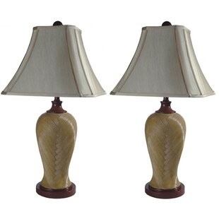 Buy clear Apel Rattan Resin 29.5 Table Lamp (Set of 2) By Bayou Breeze