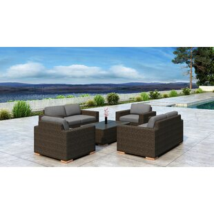 Glen Ellyn 5 Piece Sofa Set with Sunbrella Cushion