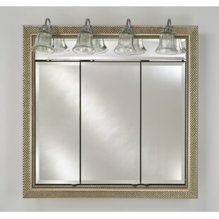Bargain Eagle 38 x 34 Recessed Medicine Cabinet with Lighting ByCharlton Home