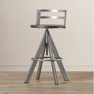 Louque Adjustable Height Bar Stool by Brayden Studio