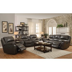 Hughes Leather Reclining Sofa by Red B..
