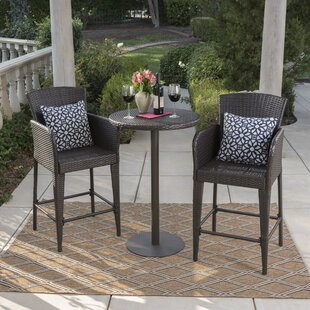 Eaton 3 Piece Bar Height Dining Set