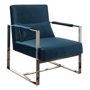 Willa Arlo Interiors Alvara Stainless Steel Armchair